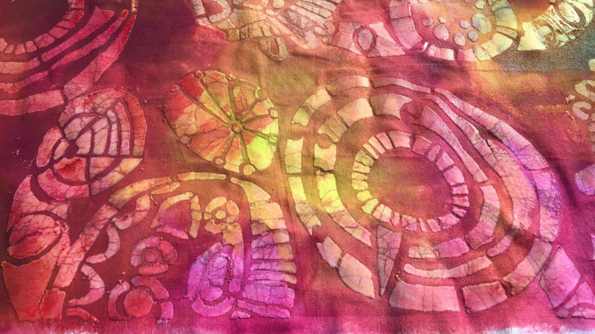 Skapa mönster med vetemjöl och akrylfärg